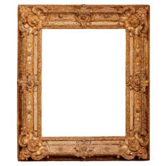 Exceptional French Regence Period Carved and Giltwood Mirror, Frame, France