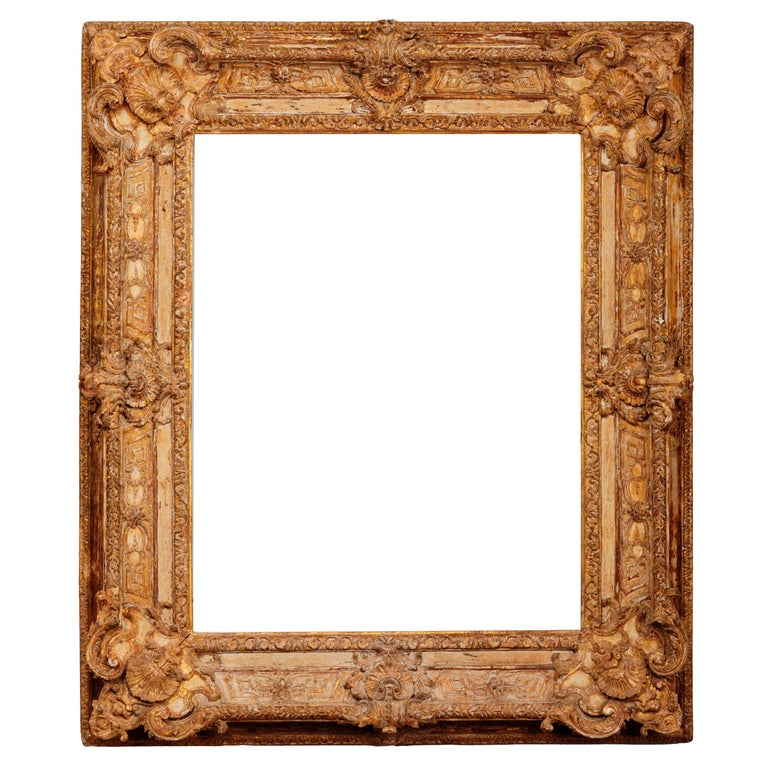 Exceptional French Regence Period Carved and Giltwood Mirror, Frame, France For Sale