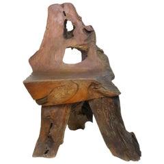 Organic Burl Redwood Chair
