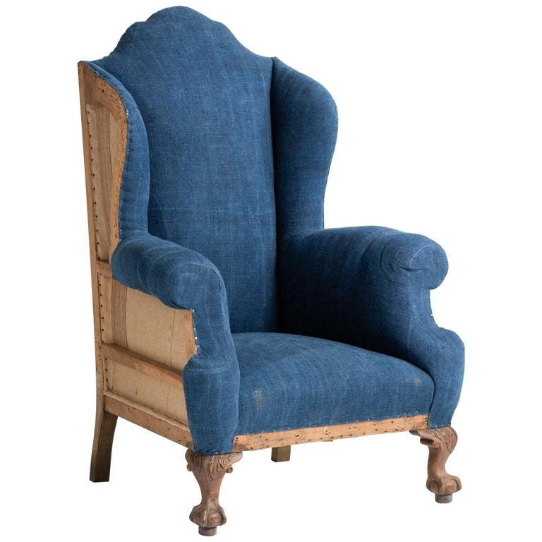 Highback Winged Armchair, England, circa 1910 For Sale