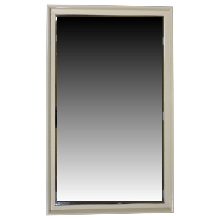 Paul Frankl Mid-Century Modern Large Lacquer Mirror for Johnson Furniture For Sale