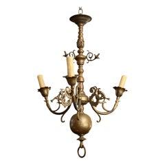 Flemish-Baroque Style Bronze Chandelier