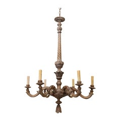 Fine Hand-Carved Italian Neoclassical Chandelier