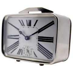 Art Deco French Miniature Alarm Clock, circa 1930