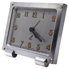 Art Deco French Miniature Alarm Clock by JAZ, circa 1930