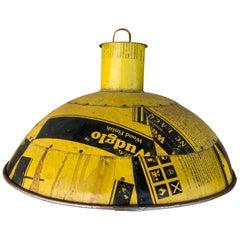 Yellow Industrial Aluminium Pendant Light