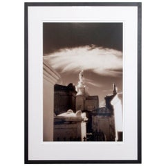Infrared of New Orleans Cemetery Framed Photography