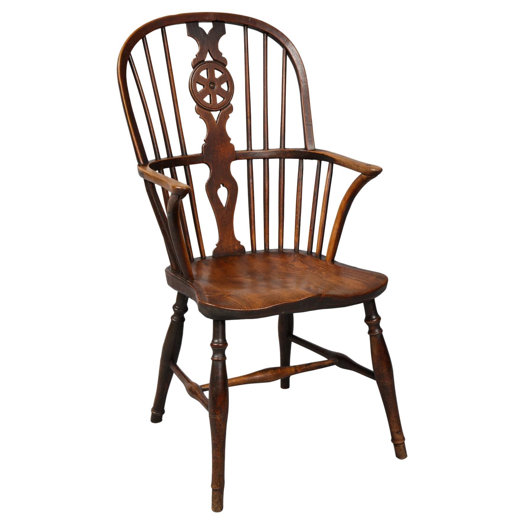 "19th Century English ""Wheel Back"" Windsor Chair"