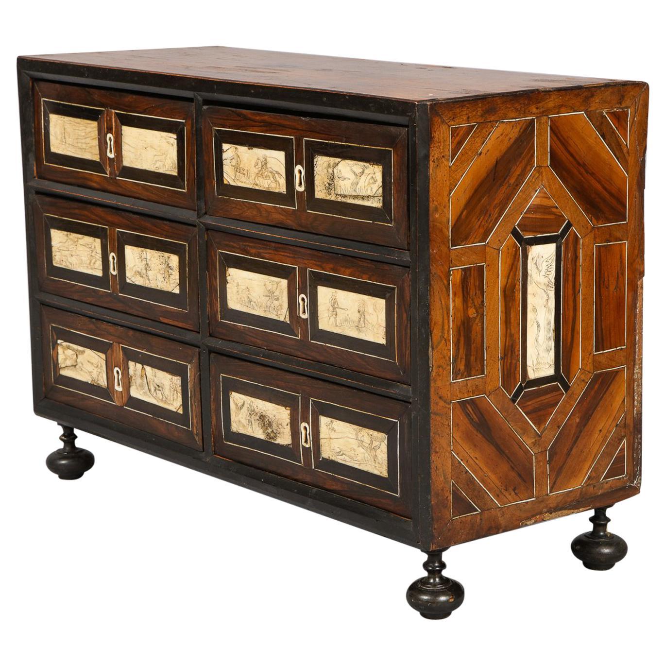 Italian Baroque Inlaid Cabinet