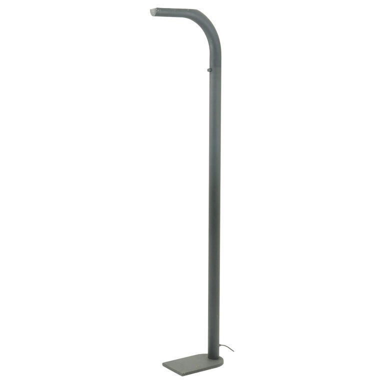 Floor Lamp by Leucos in Iron with Black Patina, 1980, Italy For Sale