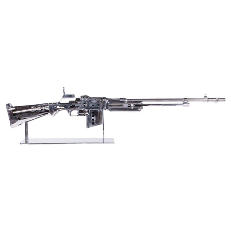 Browning Double Size Rifle Sculpture All Chromed For Sale