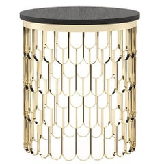 Scales Side Table in Gold Finish