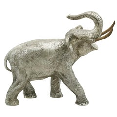 Vintage Spanish Silver Elephant Table Ornament