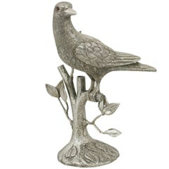 Vintage Mexican Sterling Silver Bird Table Ornament