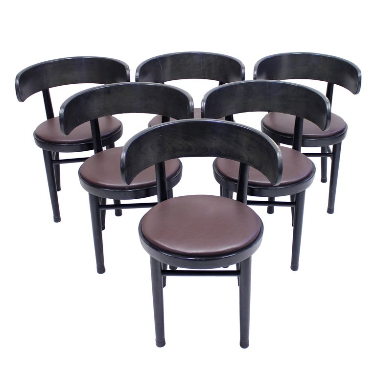Chairs by Werner West for Wilhelm Schauman Ltd, circa 1940s, Set of 6 For Sale