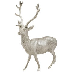 Vintage Sterling Silver Model of a Stag