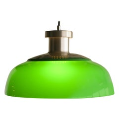 Green Pendant Lamp 4017 Designed by Achille Castiglioni for Kartell