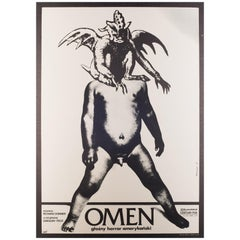 Omen Original Polish Film Movie Poster, 1977