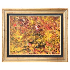 """Mixed Technique Painting on Board Title """"Autumn"""", 2012"""