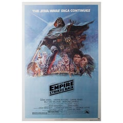 """""""The Empire Strikes Back"""" US Film Movie Poster, 1980, Tom Jung"""