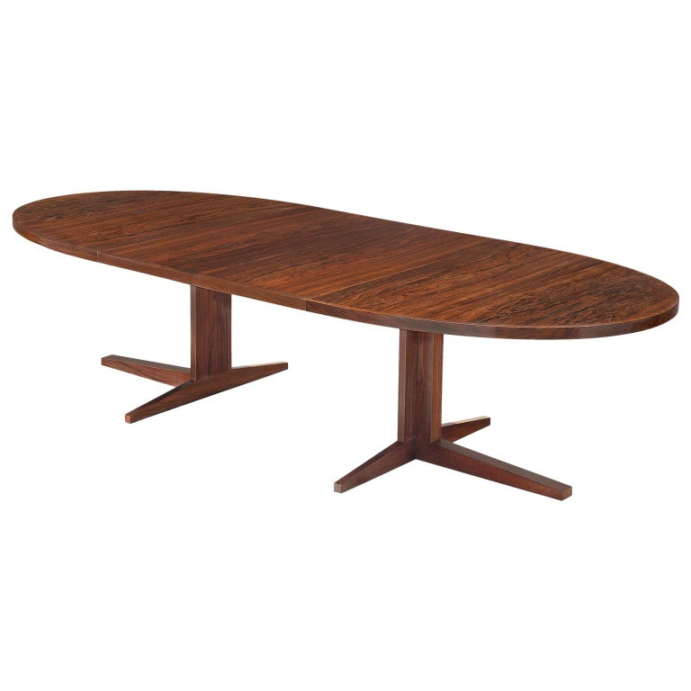 John Mortensen 'HM55' Extendable Dining Table in Rosewood For Sale