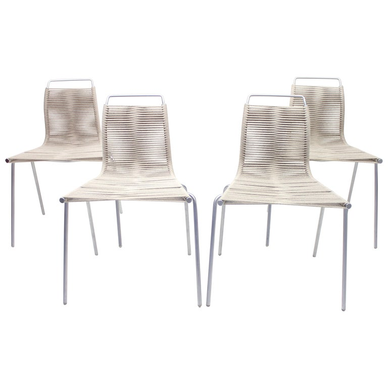 PK1 Chairs by Poul Kjærholm for Thorsen Møbler, Set of 4 For Sale