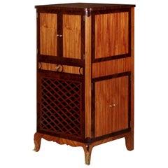 20th Century Louis XV Style Curio Music Antique Cabinet Cupboard