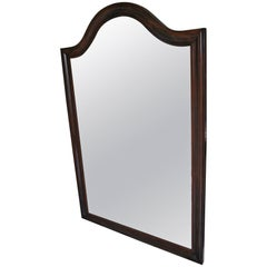 Large French Rosewood Overmantle Mirror or Dressing Mirror