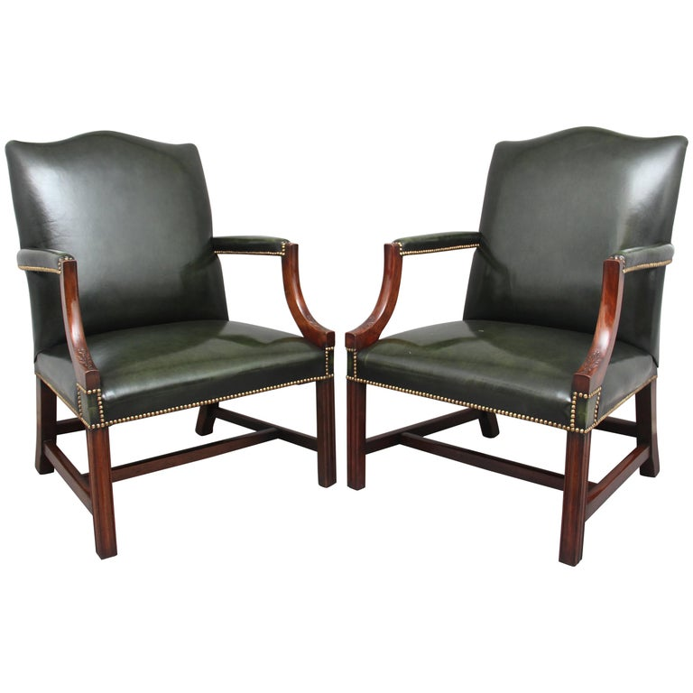 Pair of Early 20th Century Gainsborough Armchairs For Sale