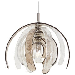 Artichoke Chandelier by Carlo Nason for Mazzega, Italy