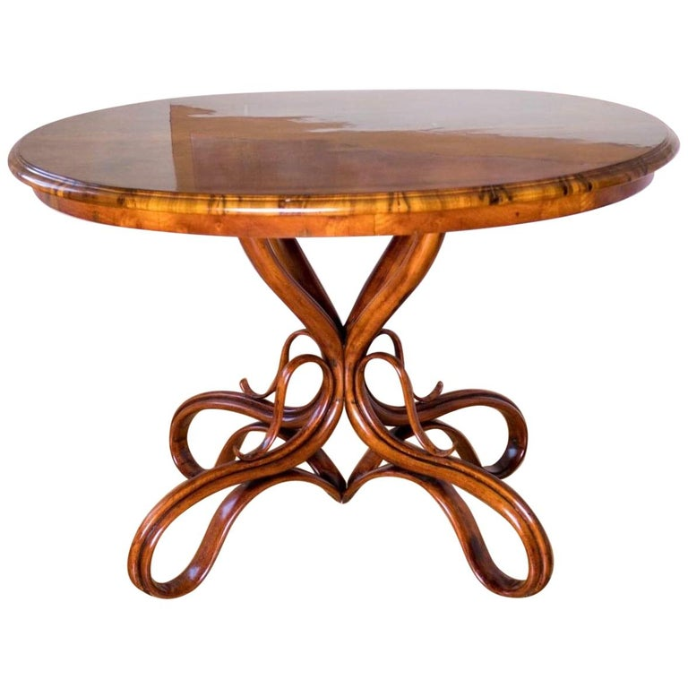 Beautiful Thonet Restored Table For Sale