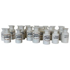 Collection of French Opaline Apothecary Jars