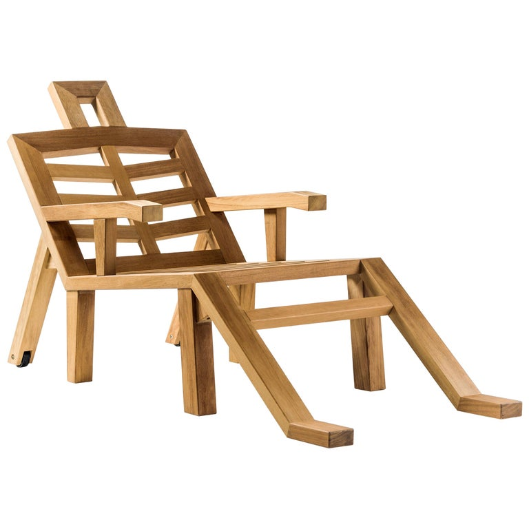 Salvador Dali Contemporary Portlligat Wood Sculpture Sunbed For Sale