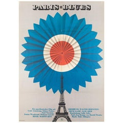 Paris Blues Original East German Film Movie Poster, 1970