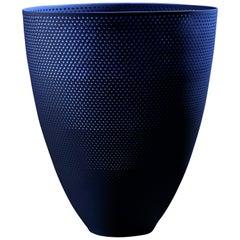 Contemporary Blue Porcelain Luminescent Vessel