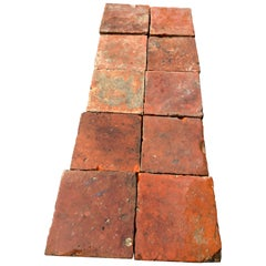 Flooring French Antique Terracotta 18th Century from France