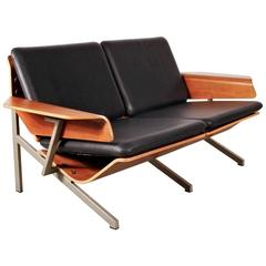 Rare Cornelis Zitman Two-Seat Leather Sofa, 1964
