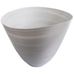 Contemporary White Porcelain Luminescent Vessel