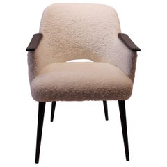 Easy Chair Upholstered in Sheep Wool, Danish Design, 1960s