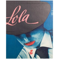 Lola Czech Film Movie Poster, Vratislav Seccik, 1983 Vintage Rare