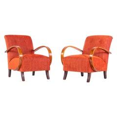 Czech Interwar Avant Garde Design Rusty Armchairs, Jindrich Halabala 'UP Zavody'