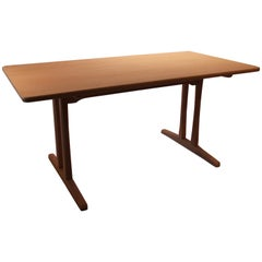 Shaker Dining Table, Model C18, of Soap Treated Oak by Børge Mogensen, 1960s