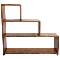 Classic Mid-20th Century Oak Three Step Bookcase and Display Shelves