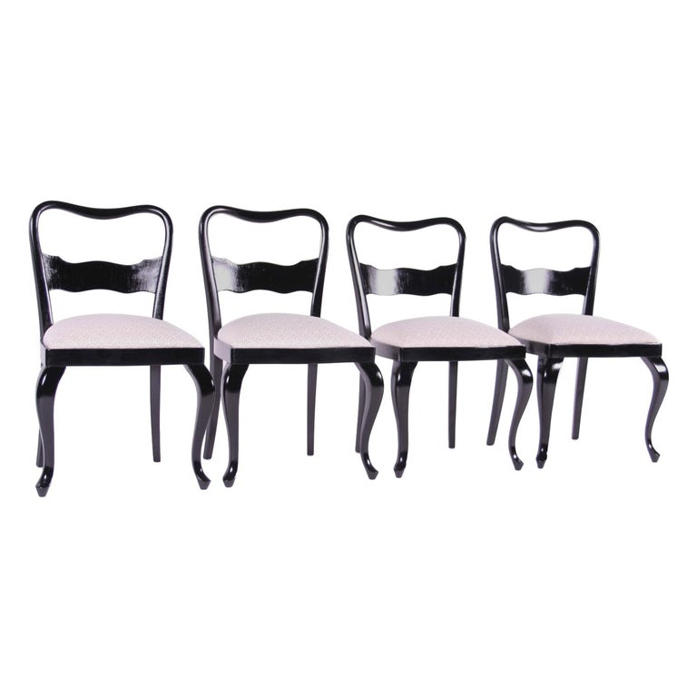 Wondrous Czech Historism Design Black And White Dining Chairs Caraccident5 Cool Chair Designs And Ideas Caraccident5Info