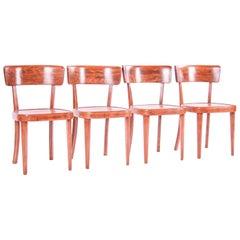 Czech Interwar Avantgard Design Dining Chairs by Jindrich Halabala 'Up Zavody'