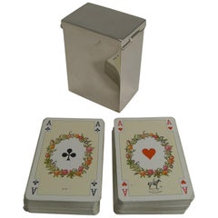 English Victorian Sterling Silver Playing Card Box, 1899