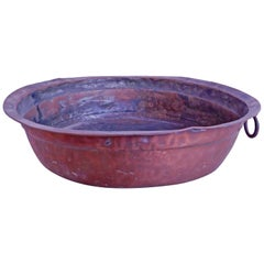 18th Century French Copper Bowl or Pan