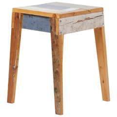 Lacquered Oak Stool by Piet Hein Eek