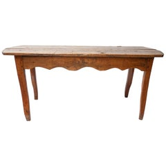 19th Century French Oak Rustic Farm Kitchen Table