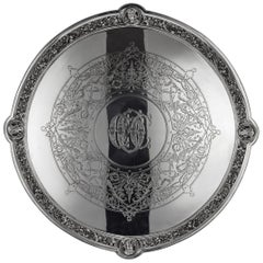 19th Century Victorian Solid Silver Salver, Hunt & Roskell, London, circa 1873